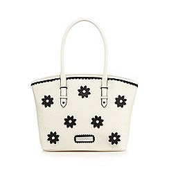 Floozie by Frost French - Cream flower applique tote bag