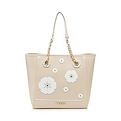 Floozie by Frost French - Light pink pansy applique tote bag