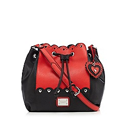 Floozie by Frost French - Red heart scalloped duffle bag