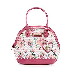Floozie by Frost French - Pink chevron rose print kettle bag