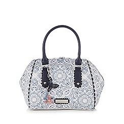 Floozie by Frost French - Blue and white printed winged grab bag