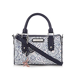 Floozie by Frost French - Blue and white printed bowler bag