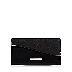 Red Herring - Black metallic clutch