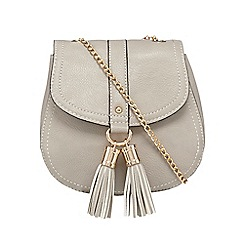 Red Herring - Grey tassel cross body bag