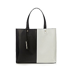 Red Herring - Black two tone shopper bag