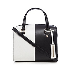 Red Herring - White monochrome bowler bag