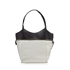 Red Herring - Grey colour block shopper bag