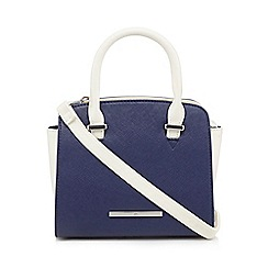 Red Herring - Navy colour block winged mini grab bag