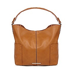 Red Herring - Tan whipstitch shoulder bag