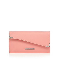 Red Herring - Coral asymmetric clutch bag