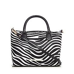 Red Herring - Black zabra print grab bag