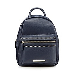 Red Herring - Navy mini studded backpack