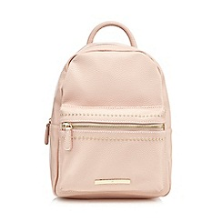 Red Herring - Light pink mini studded backpack