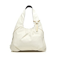 Red Herring - White zip detail shoulder bag