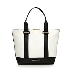Red Herring - White contrast trim winged tote bag