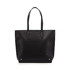 Red Herring - Black diamond cut-out shopper bag