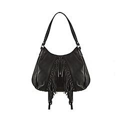 Red Herring - Black fringed shoulder bag