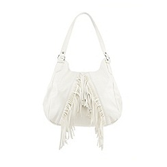 Red Herring - White fringed shoulder bag