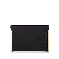Red Herring - Black envelope clutch bag