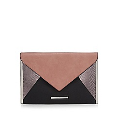 Red Herring - Black envelope clutch bag