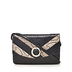 Faith - Black chevron clutch bag