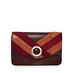 Faith - Tan chevron clutch bag