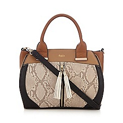 Faith - Natural snakeskin-effect grab bag