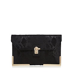 Faith - Black oversized clutch