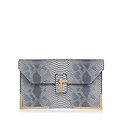 Faith - Grey oversized clutch