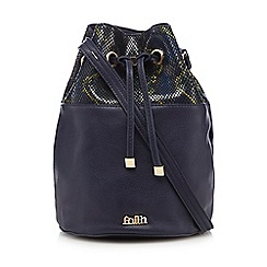 Faith - Navy snake-effect duffle bag