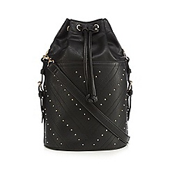 Faith - Black chevron studded duffle bag