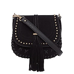 Faith - Black suedette cross body bag