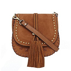 Faith - Tan suedette cross body bag