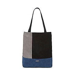 Faith - Navy patchwork shopper bag