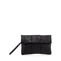 Faith - Black fold over clutch bag