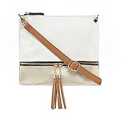 Call It Spring - White 'Deroonne' contrasting cross body bag
