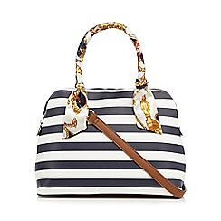 Call It Spring - Navy stripe dome bag