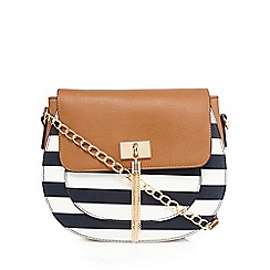 Call It Spring - Navy 'Return' striped cross body bag