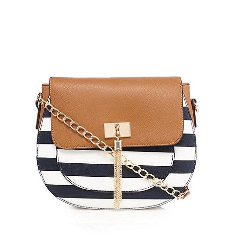 Call It Spring - Navy +Return+ striped cross body bag