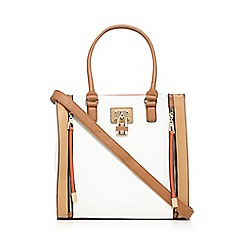 Call It Spring - Tan 'Scena' contrast lock shopper bag