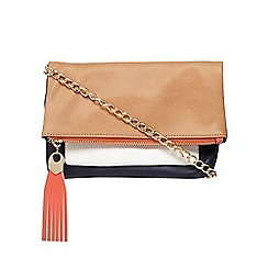 Call It Spring - Tan 'Irelan' colour block cross body bag