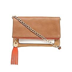 Call It Spring - Orange 'Irelan' colour block cross body bag
