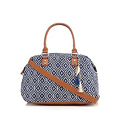 Call It Spring - Blue 'Coltsfoot' weekender bag