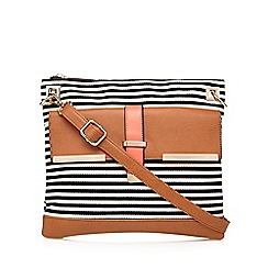 Call It Spring - Navy 'Lysimachia' striped cross body bag