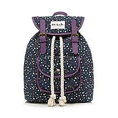 Iris & Edie - Navy ditsy floral backpack