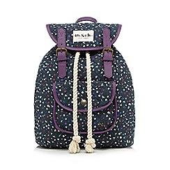 Iris & Edie - Navy ditsy floral backpack