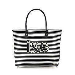 Iris & Edie - Navy striped tote bag