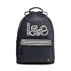 Iris & Edie - Navy logo applique backpack