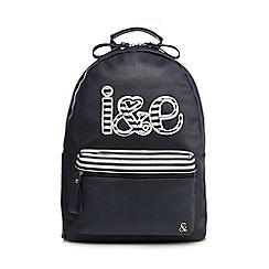 Iris & Edie - Navy logo applique backpack
