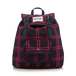 Iris & Edie - Pink checked backpack
